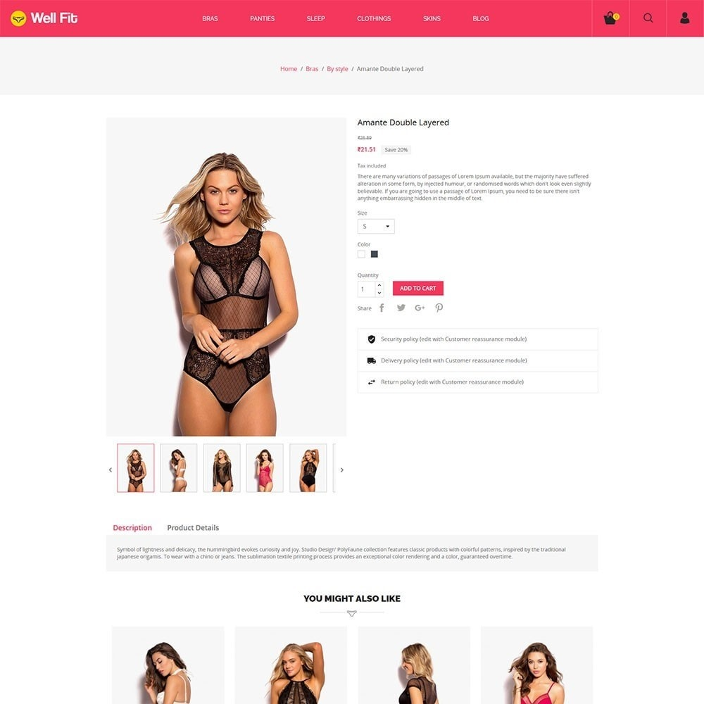 theme - Moda & Calzature - Wellfit - Lingerie  Fashion Store - 5