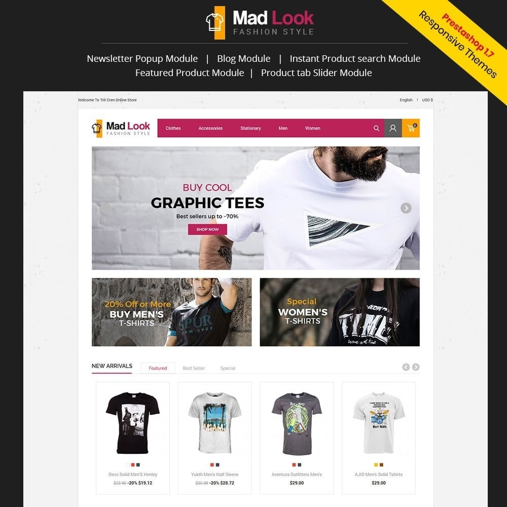theme - Mode & Chaussures - Madlook Fashion Store - 1