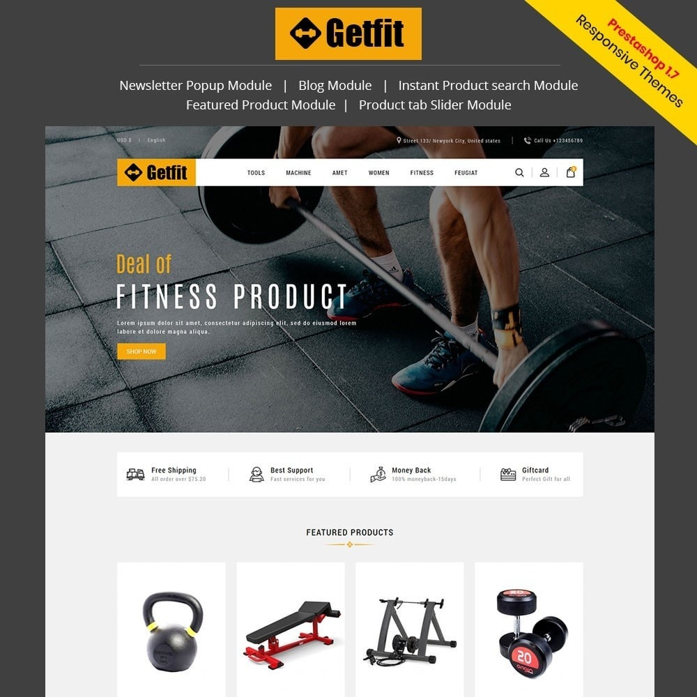 theme - Mode & Schoenen - Get Fit Gym Store - 1