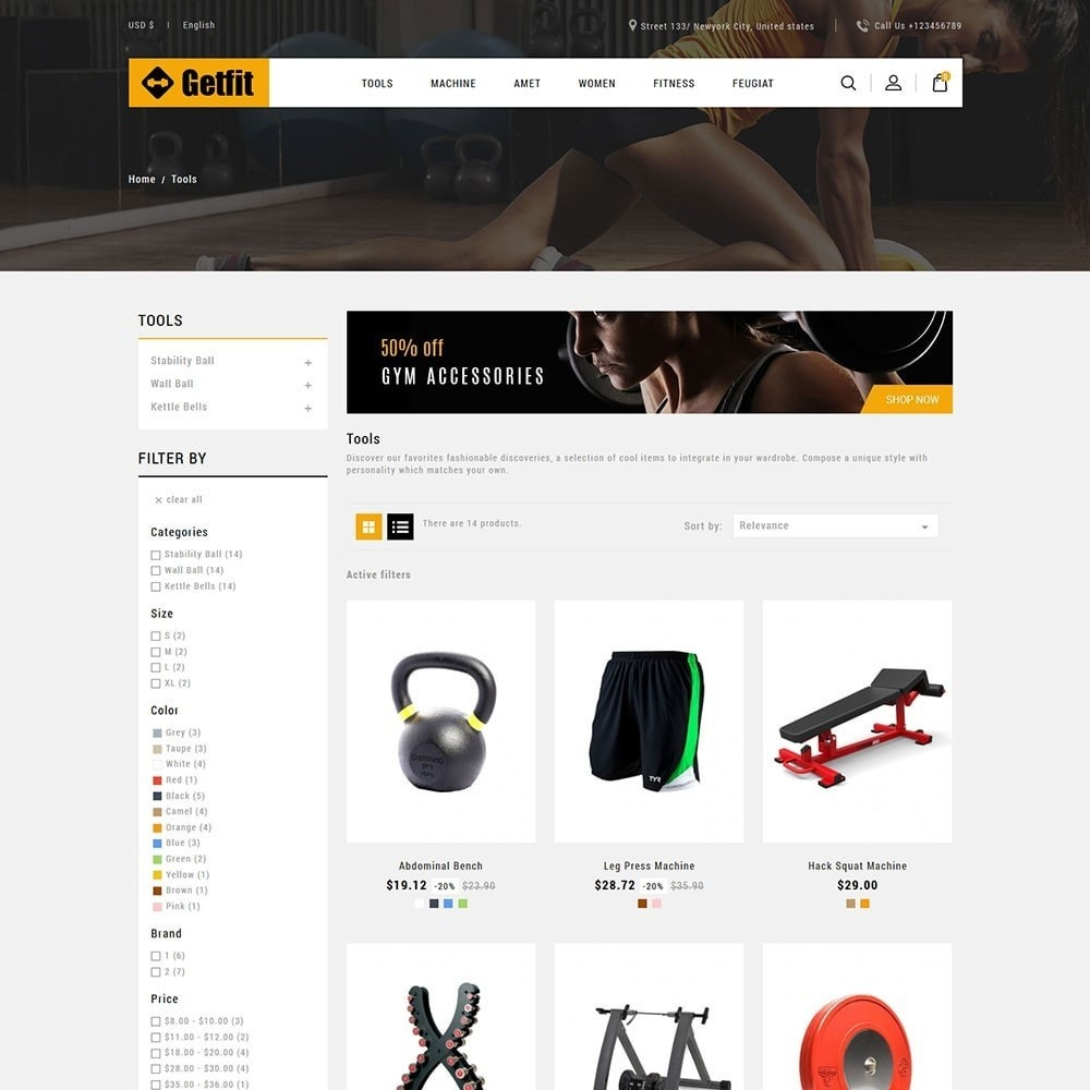 theme - Mode & Schoenen - Get Fit Gym Store - 3