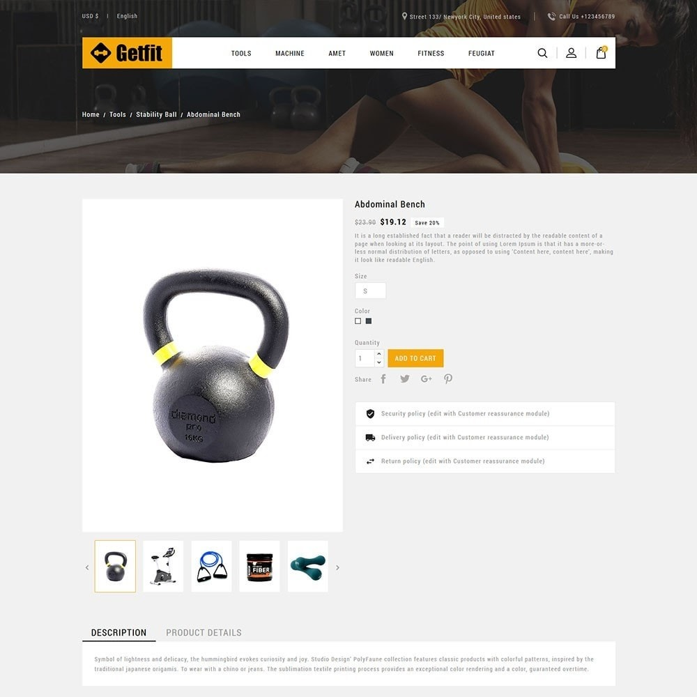 theme - Mode & Schoenen - Get Fit Gym Store - 5