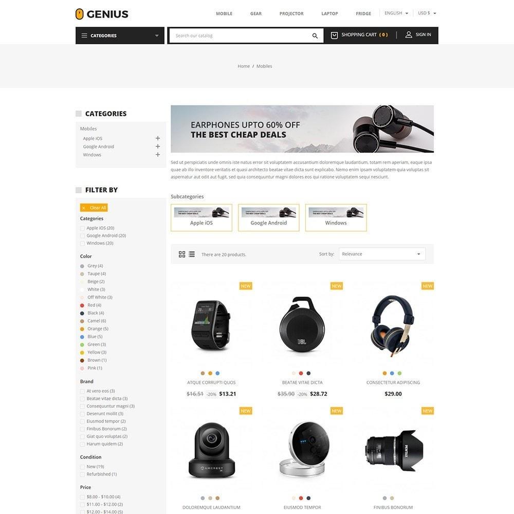 theme - Electrónica e High Tech - Genius - Electronics Online Store - 3