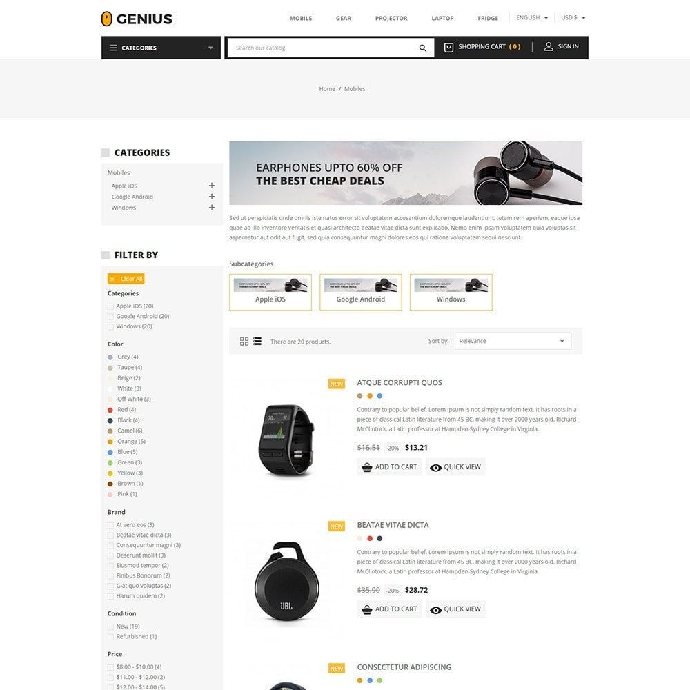 theme - Elektronica & High Tech - Genius - Electronics Online Store - 4