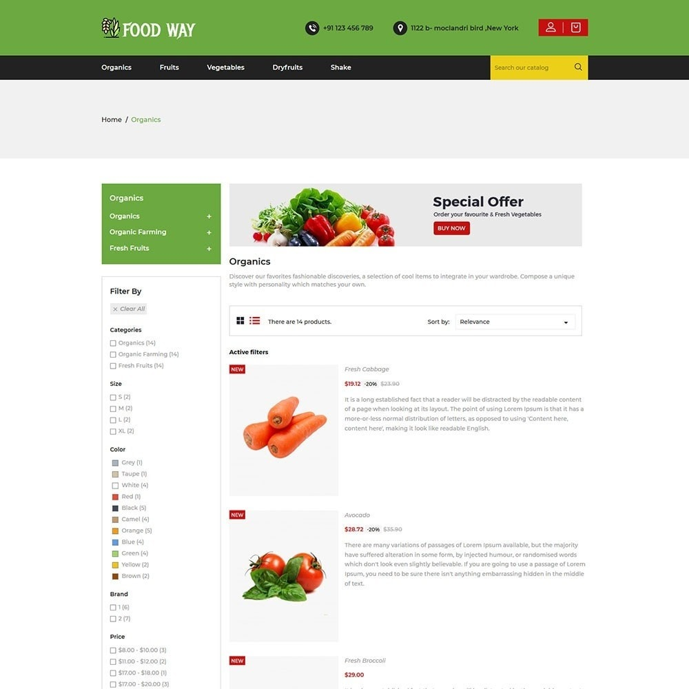 theme - Food & Restaurant - Foodway Food Store - 4