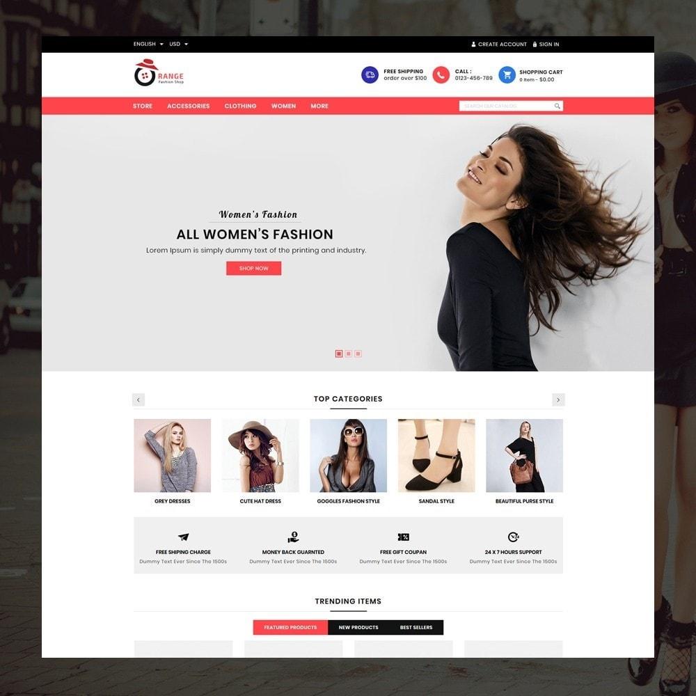 theme - Moda & Calzature - Orange - Fashion Shop - 2
