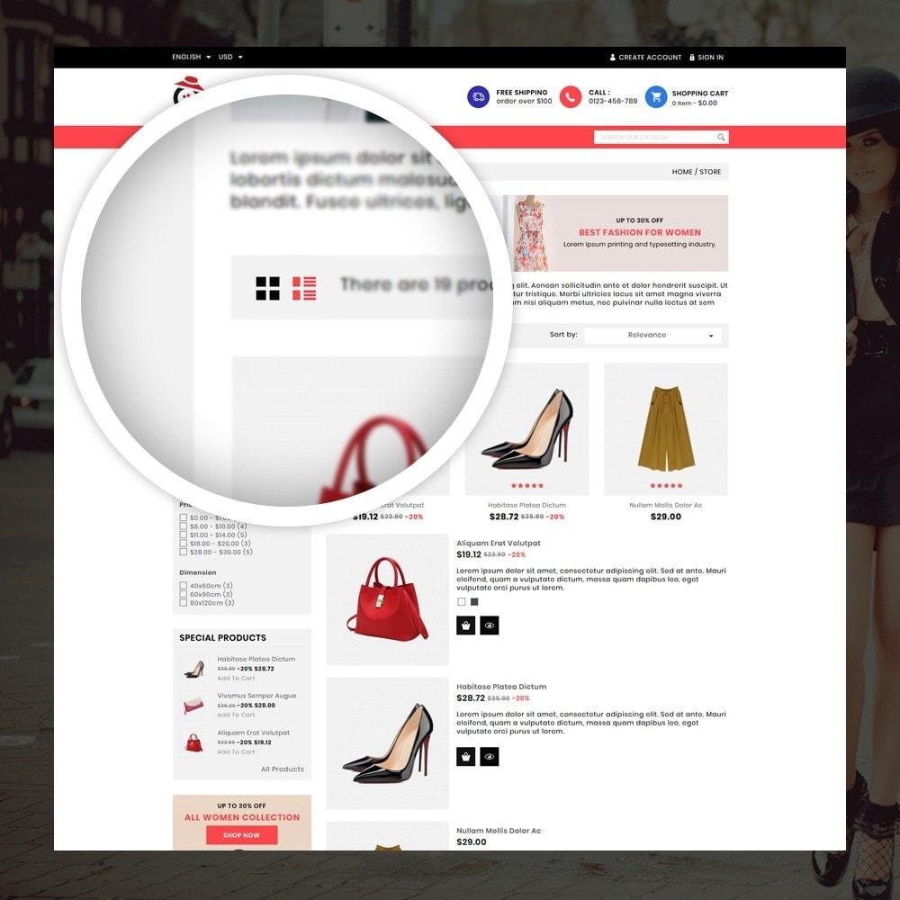 theme - Мода и обувь - Orange - Fashion Shop - 3