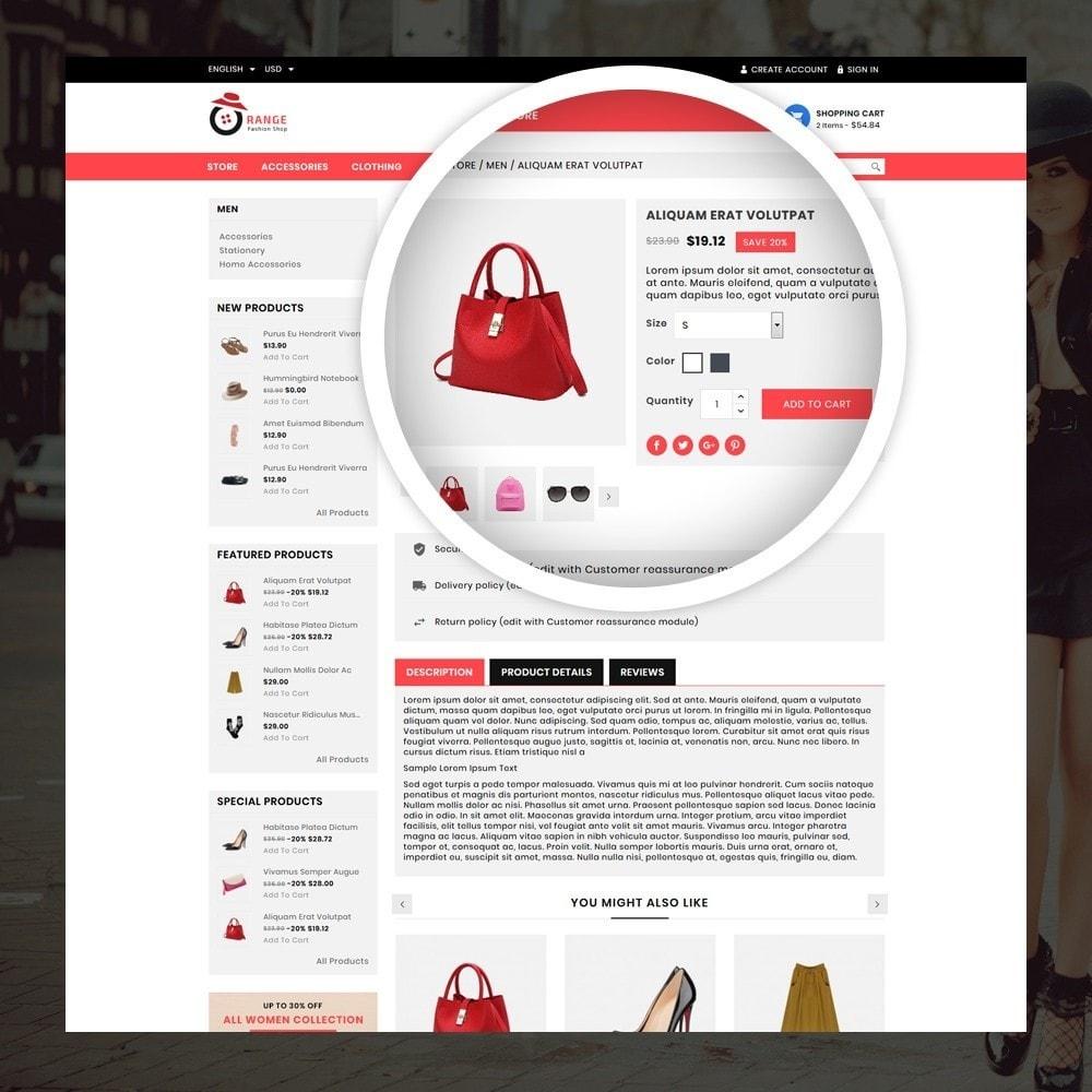 theme - Мода и обувь - Orange - Fashion Shop - 4
