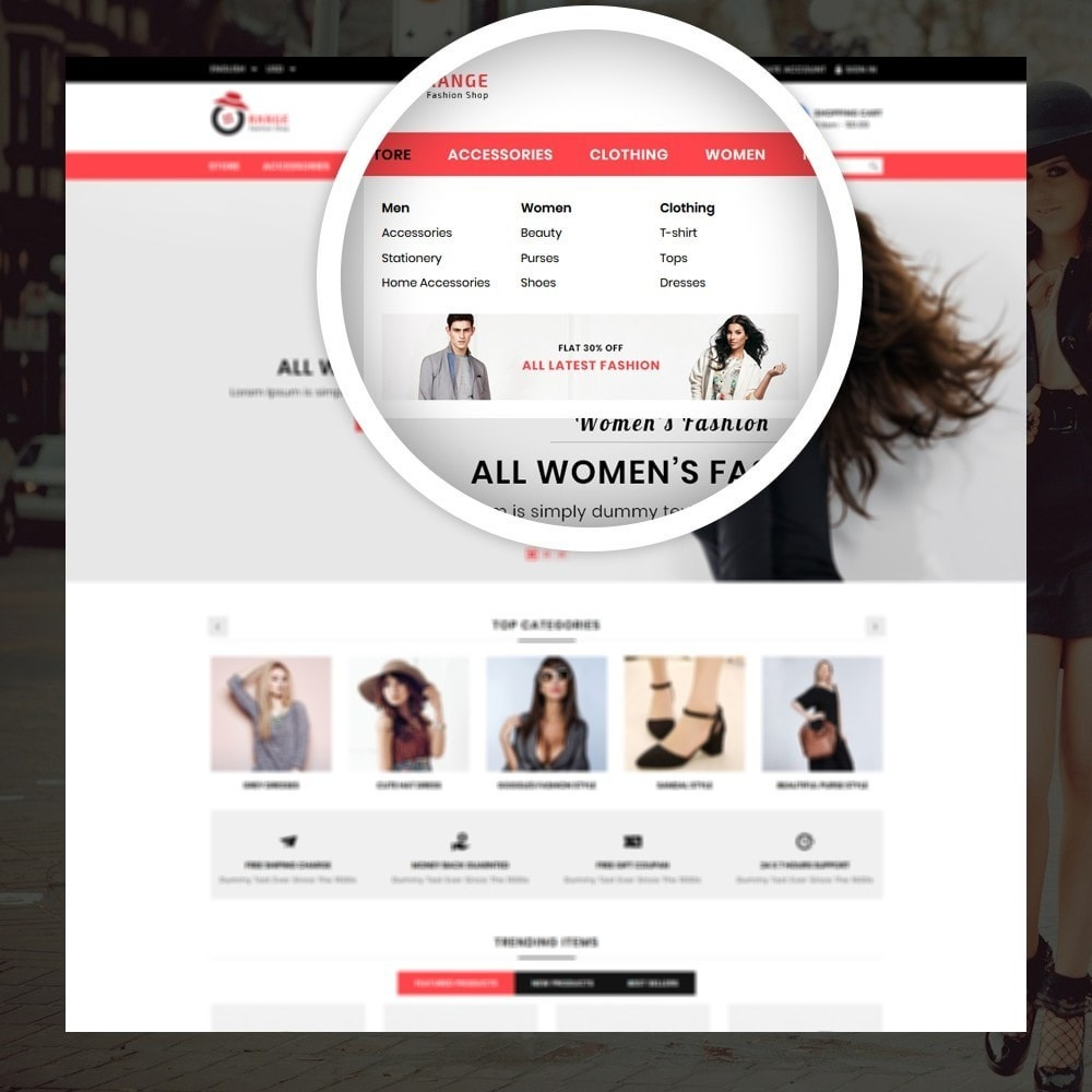 theme - Moda & Calzature - Orange - Fashion Shop - 7