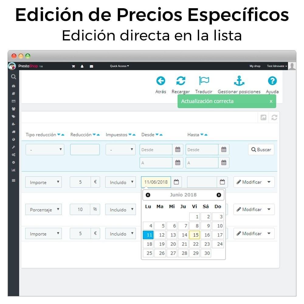 module - Gestión de Precios - Edición de precios específicos - 3
