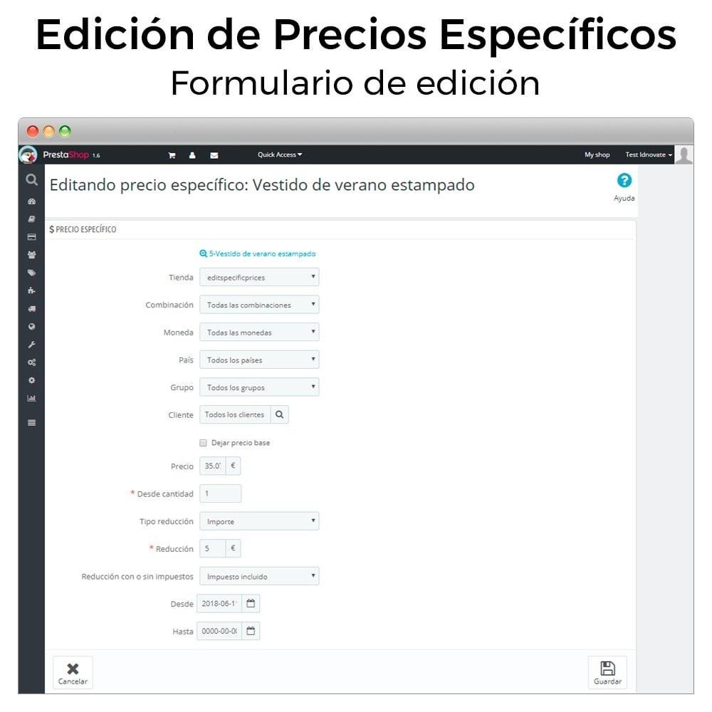 module - Gestión de Precios - Edición de precios específicos - 4