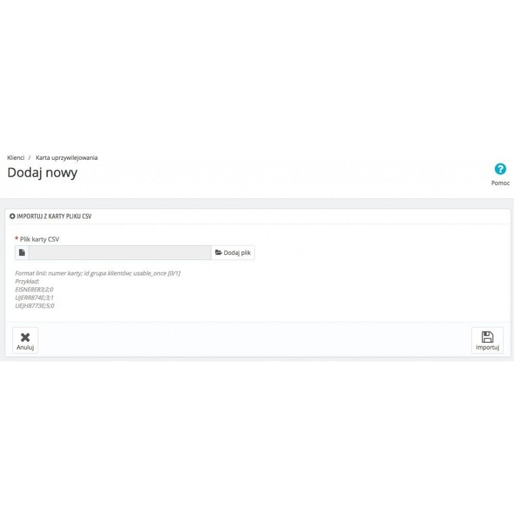 module - Lojalność & Rekomendowanie - Karta uprzywilejowania - 6