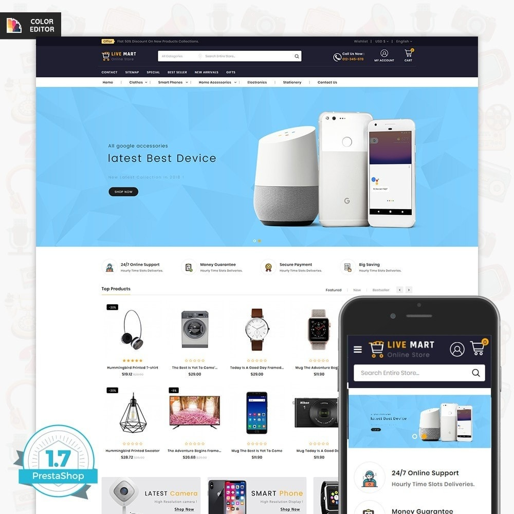 theme - Elektronica & High Tech - LiveMart - The Mega Ecommerce Store - 1