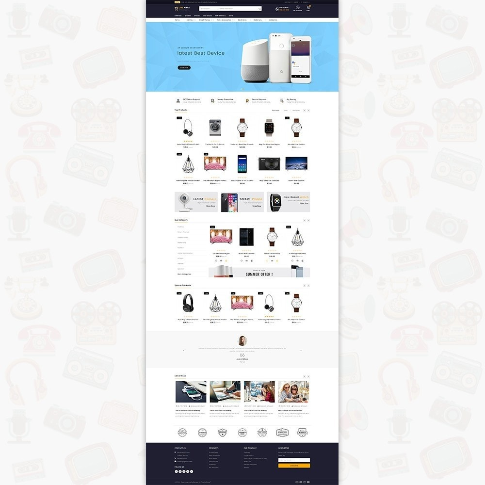 theme - Elektronica & High Tech - LiveMart - The Mega Ecommerce Store - 2