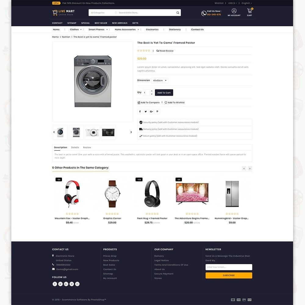 theme - Elektronica & High Tech - LiveMart - The Mega Ecommerce Store - 5