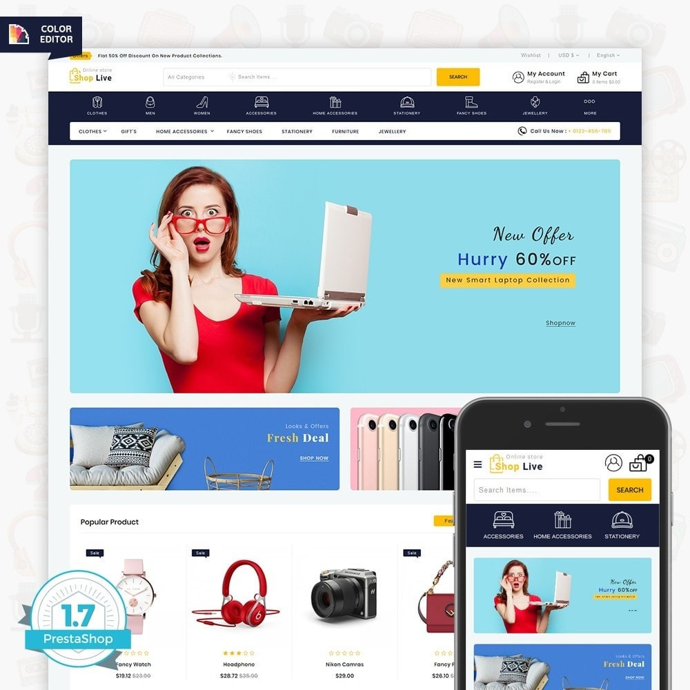 theme - Elektronika & High Tech - ShopLive- The Easy Shop - 1