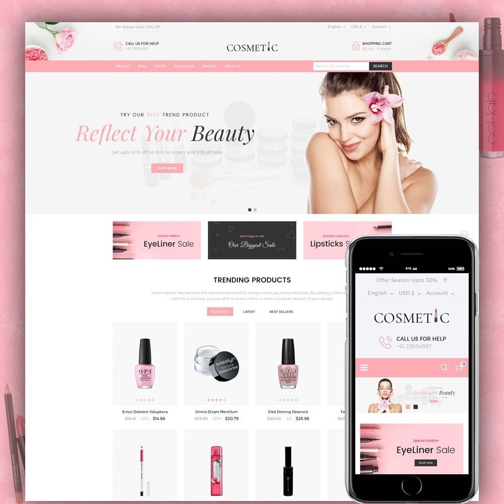 theme - Health & Beauty - Cosmetics Store - 1