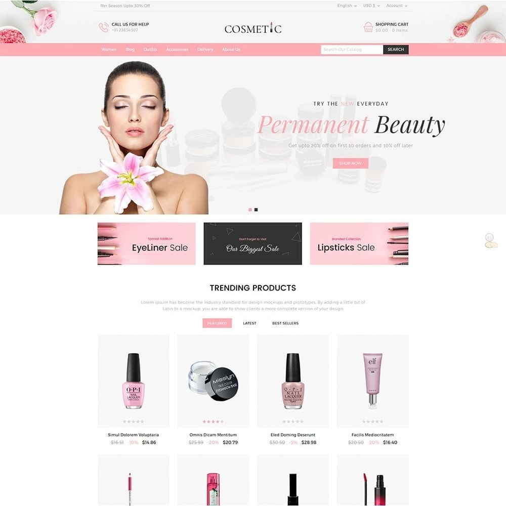 theme - Health & Beauty - Cosmetics Store - 2
