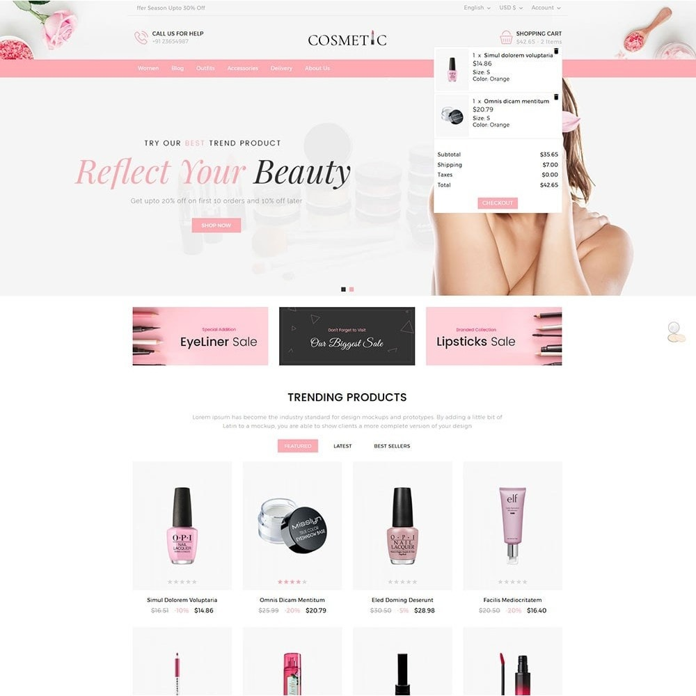 theme - Health & Beauty - Cosmetics Store - 3