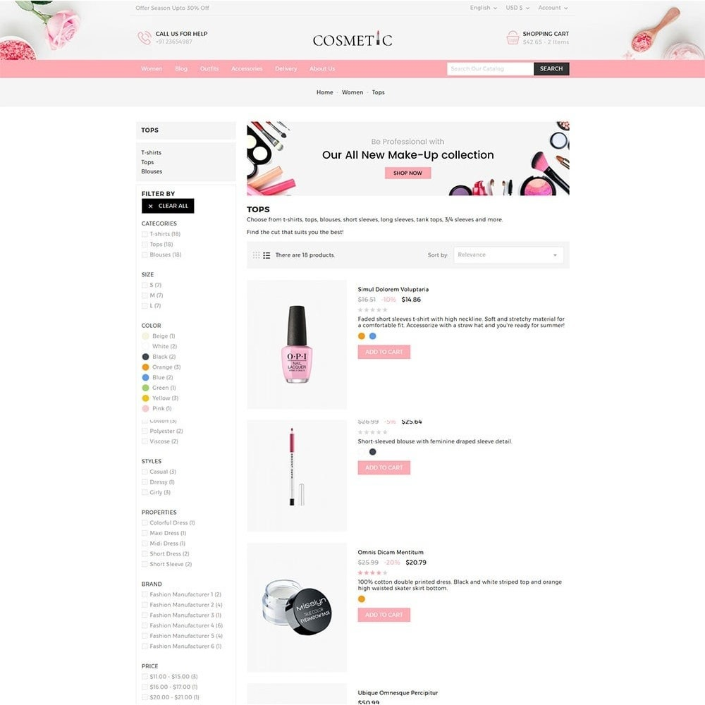theme - Health & Beauty - Cosmetics Store - 4
