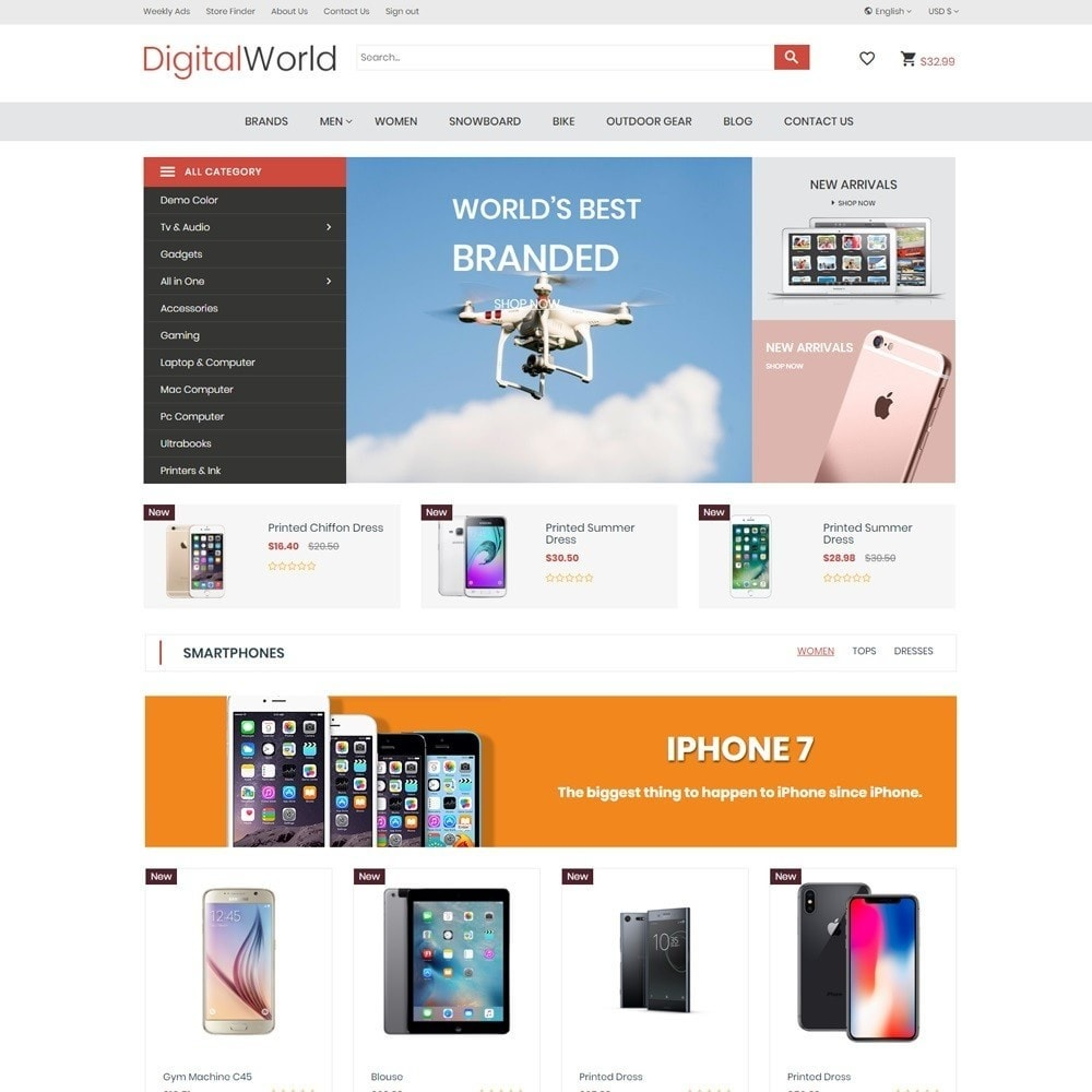 theme - Электроника и компьютеры - DigitalWorld Electronics Store - 2