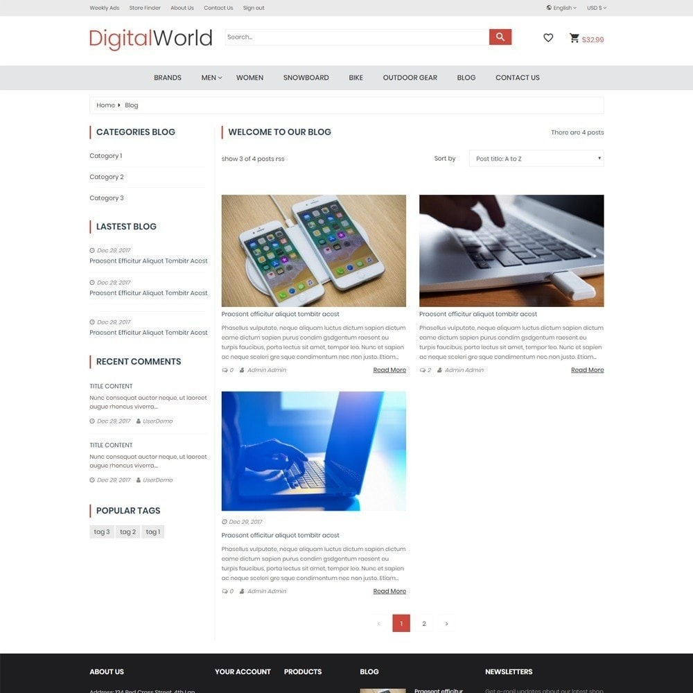 theme - Электроника и компьютеры - DigitalWorld Electronics Store - 6