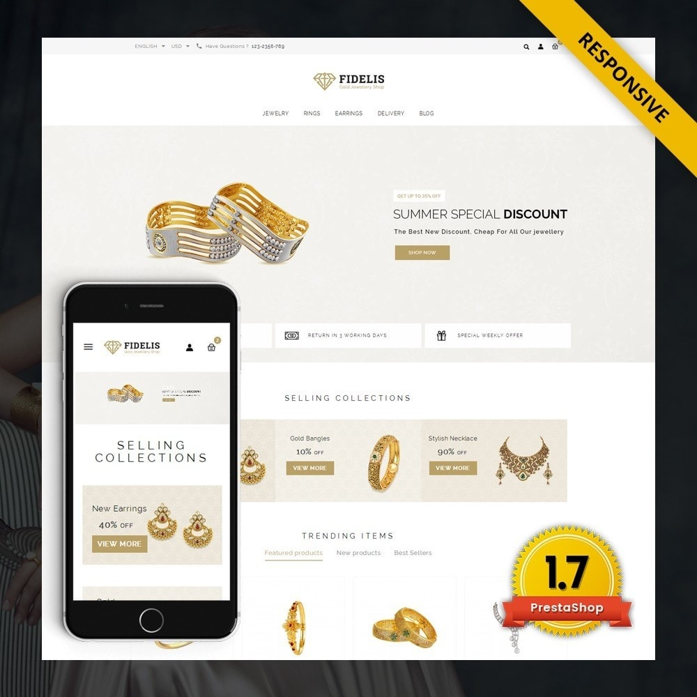 theme - Schmuck & Accesoires - Fidelis - Jewelry Store - 1