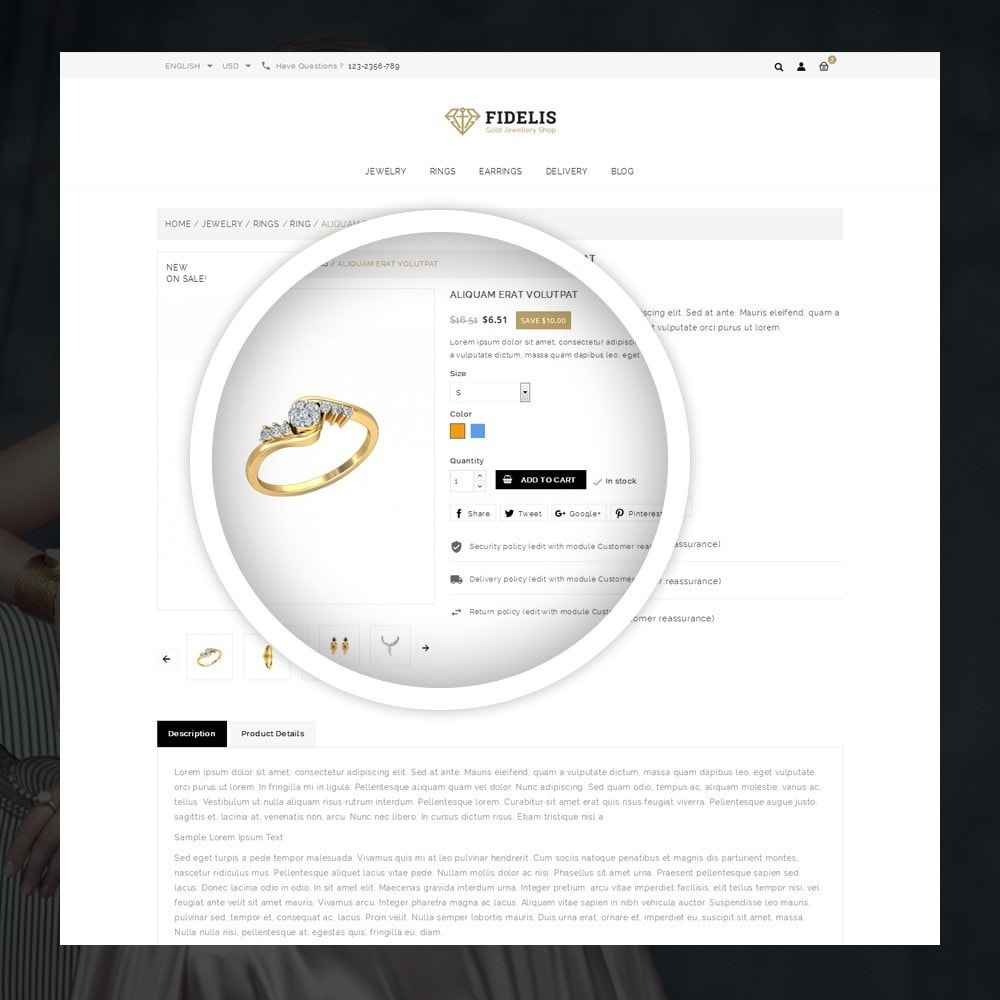 theme - Schmuck & Accesoires - Fidelis - Jewelry Store - 4