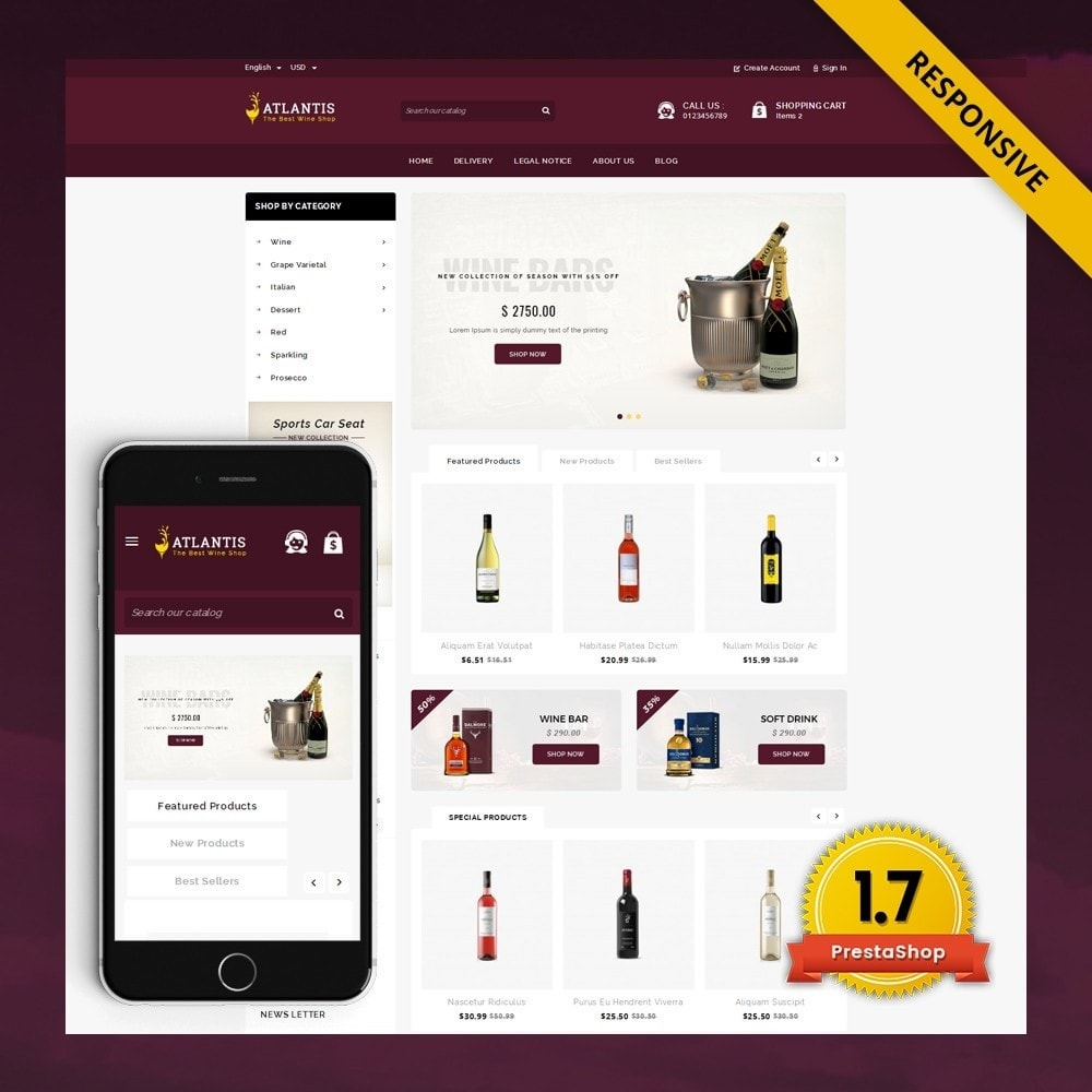 theme - Drink & Tobacco - Atlantis - The Wine Shop - 1
