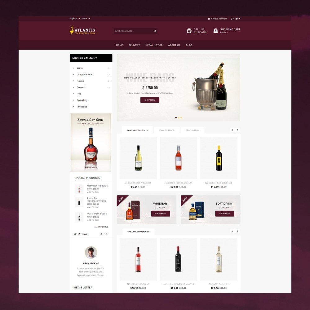 theme - Drink & Tobacco - Atlantis - The Wine Shop - 2