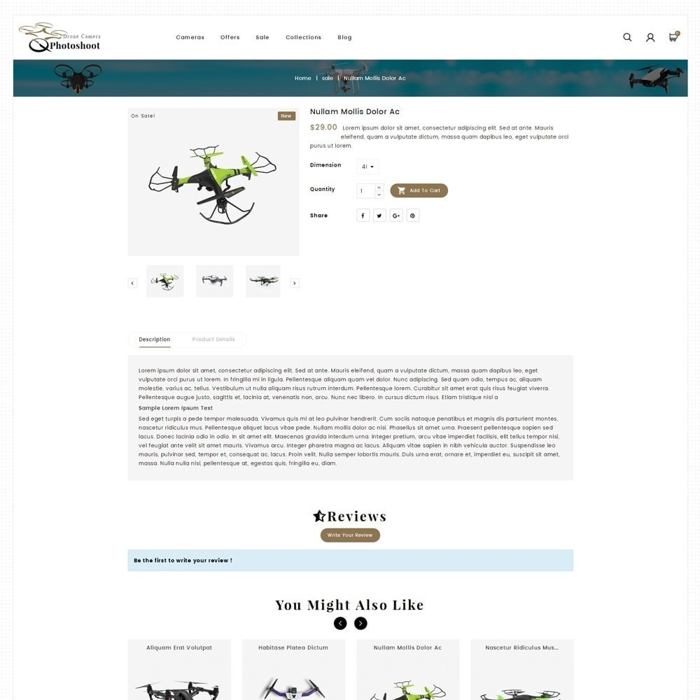 theme - Elektronika & High Tech - Drone Camera Store - 5