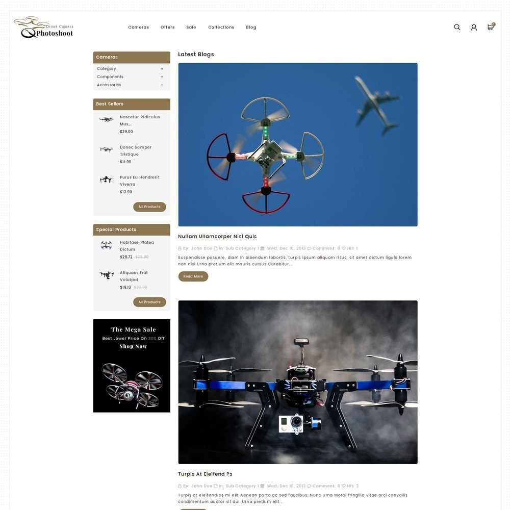 theme - Elektronika & High Tech - Drone Camera Store - 6