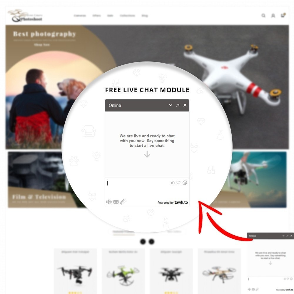 theme - Elektronika & High Tech - Drone Camera Store - 7
