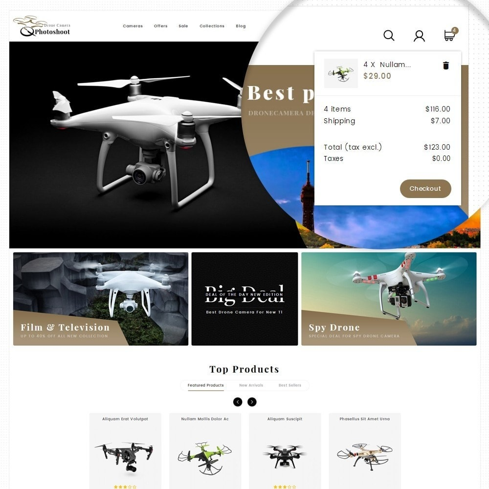 theme - Elektronika & High Tech - Drone Camera Store - 8