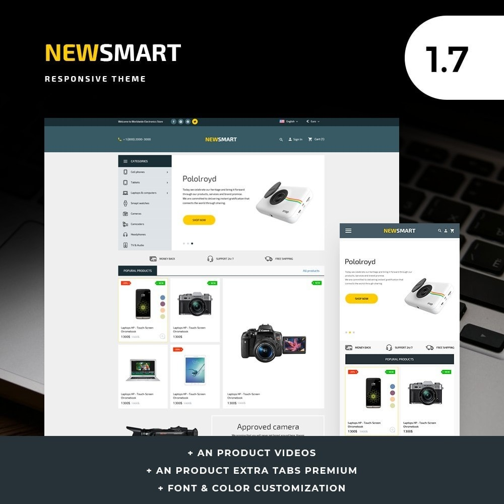 theme - Electronique & High Tech - Newsmart - High-tech Shop - 1