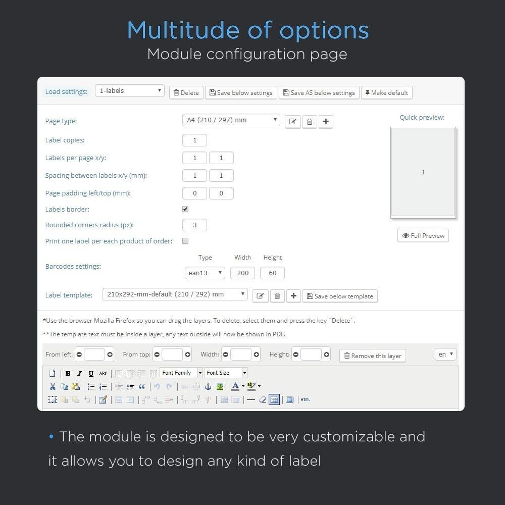 module - Preparación y Envíos - Imprimir envío etiquetas Pro (dirección impresión) - 3