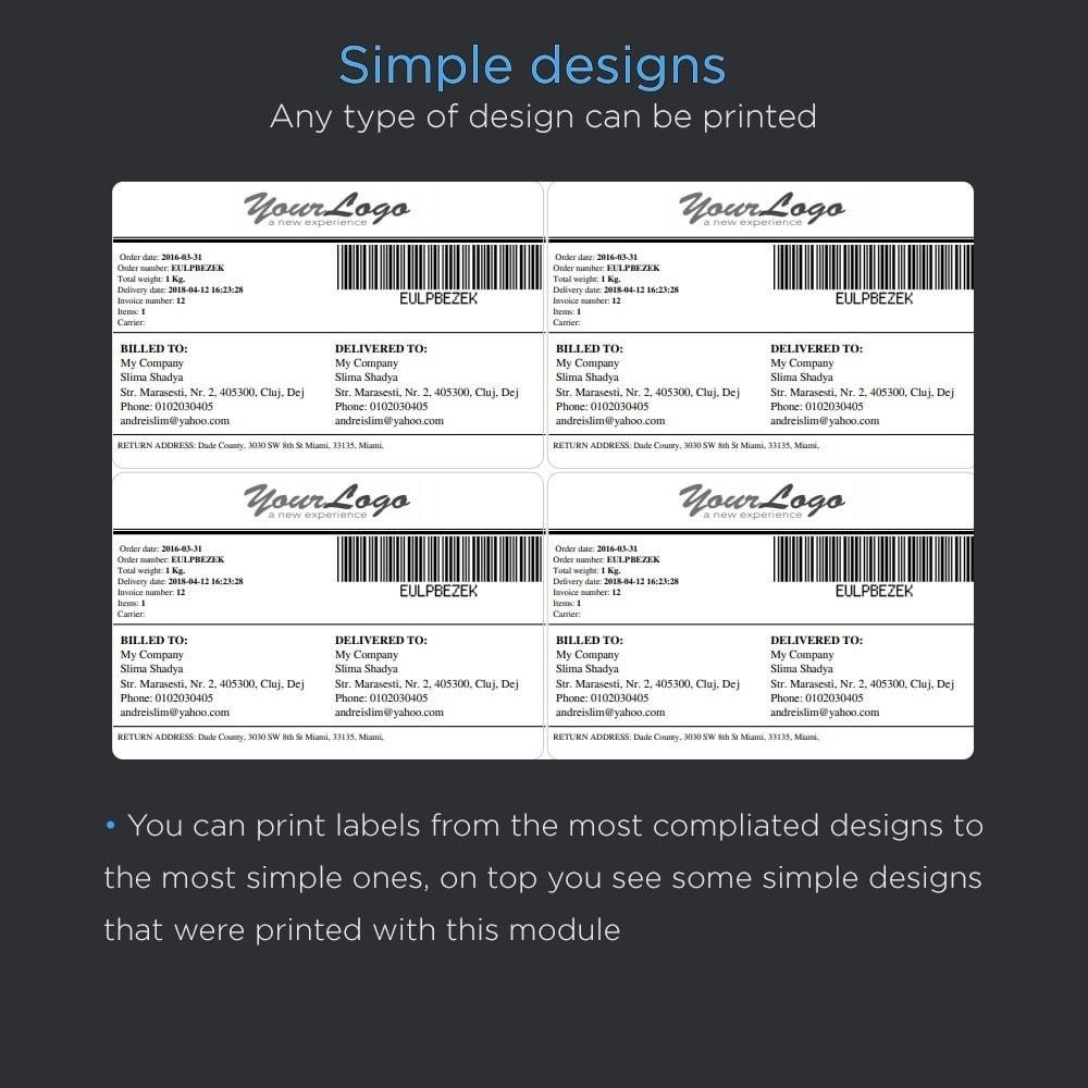 module - Preparación y Envíos - Imprimir envío etiquetas Pro (dirección impresión) - 5