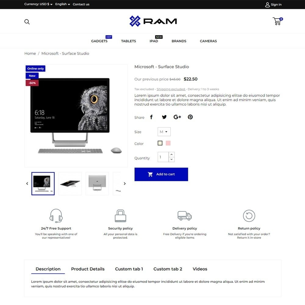 theme - Elektronik & High Tech - Ram - High-tech Shop - 5