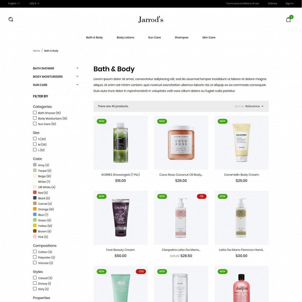 theme - Santé & Beauté - Jarrod's Cosmetics - 5
