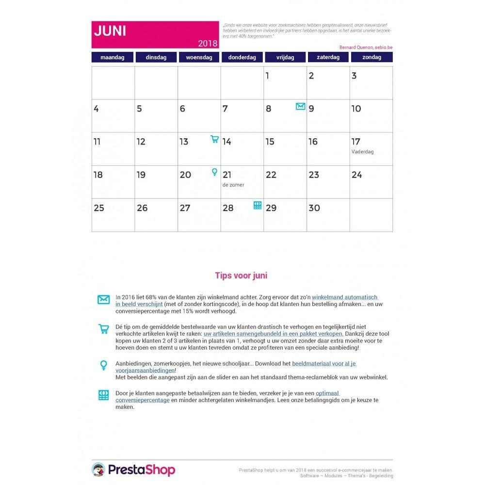 other - Kalender e-commerce - E-commerce kalender van het laatste halfjaar van 2018 - 2
