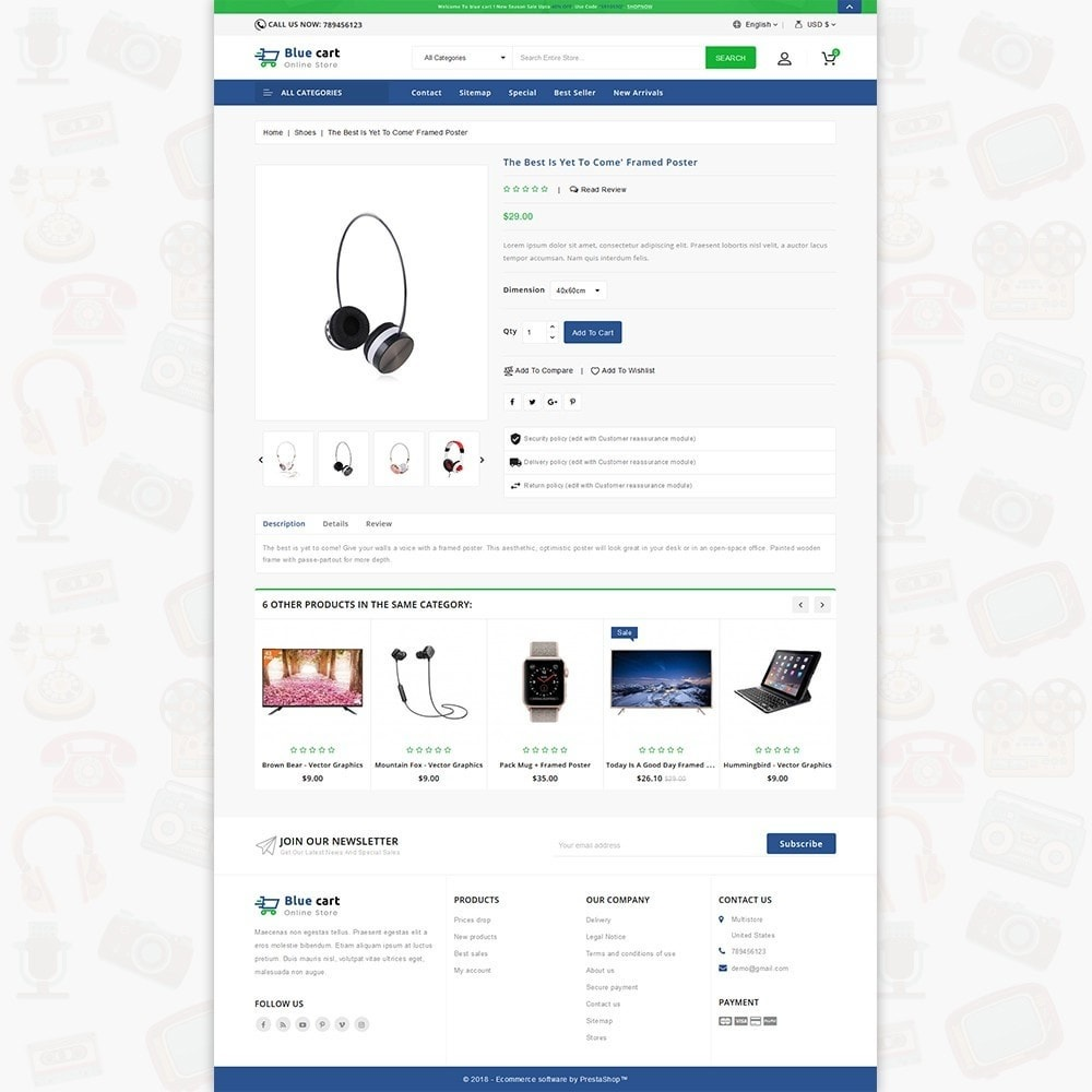 theme - Электроника и компьютеры - Blue Cart - The Online Store - 5