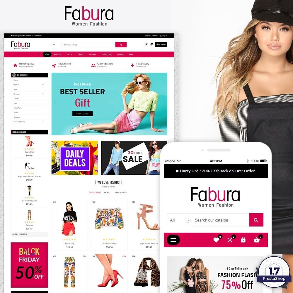 theme - Мода и обувь - Fabura – Fashion and Cloth Mega Super Store - 1