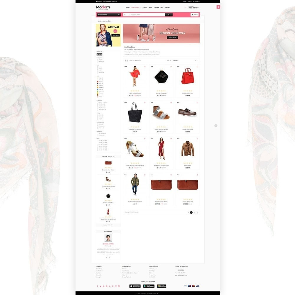 theme - Мода и обувь - Modern – Fashion and Shoes Mega Shop - 3