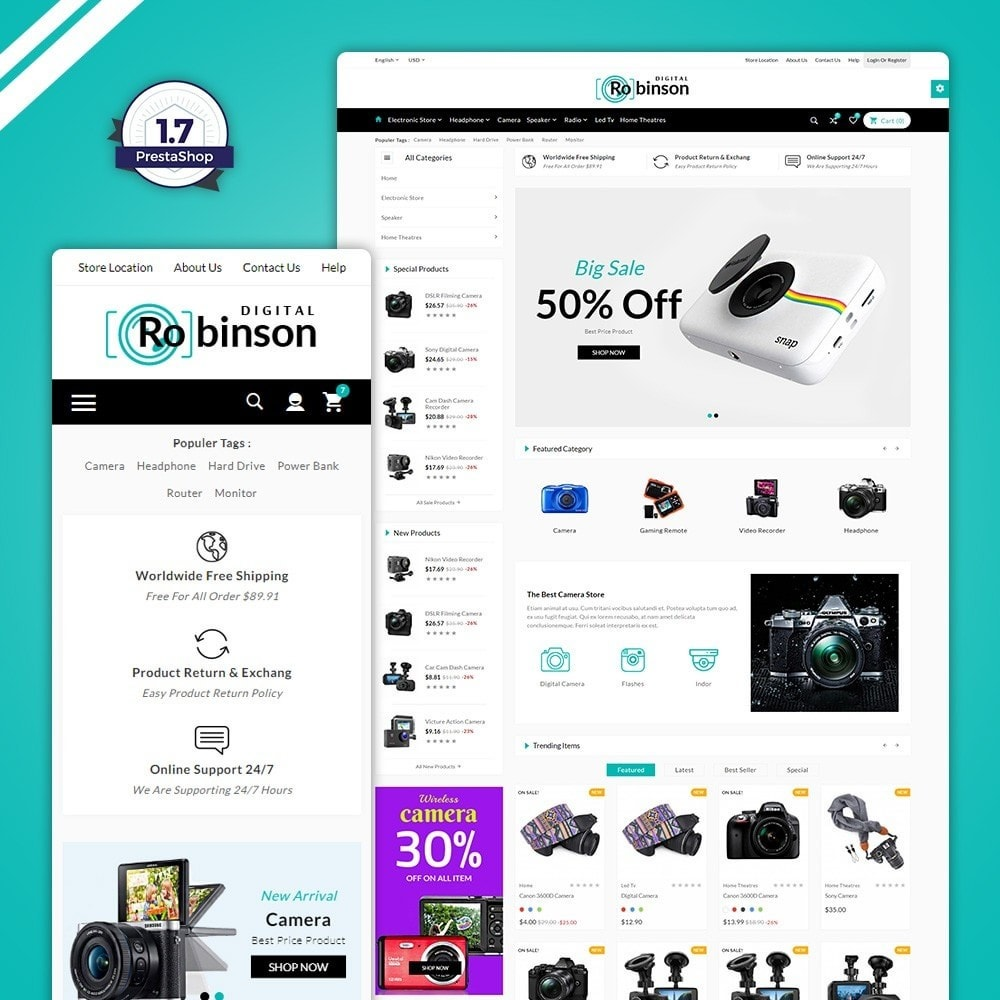 theme - Elektronika & High Tech - Binson – The Electronic Store - 1