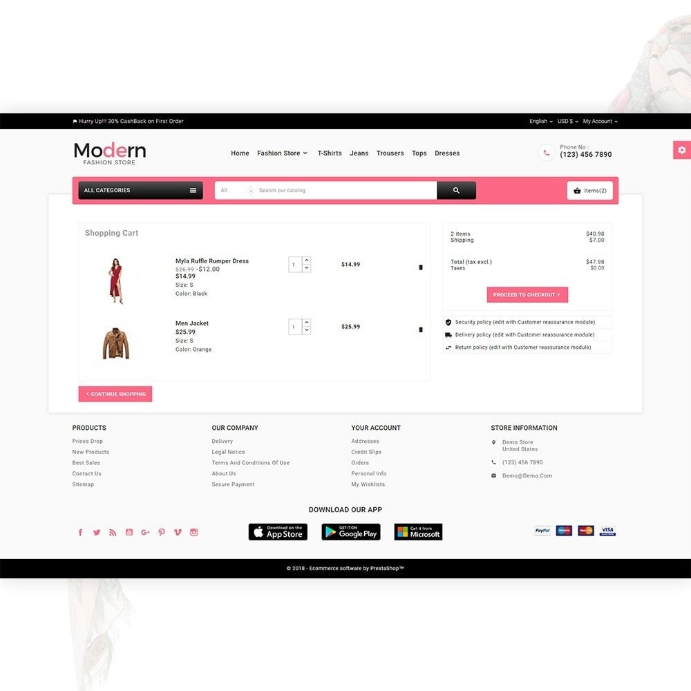 theme - Мода и обувь - Modern – Fashion and Shoes Mega Shop - 5
