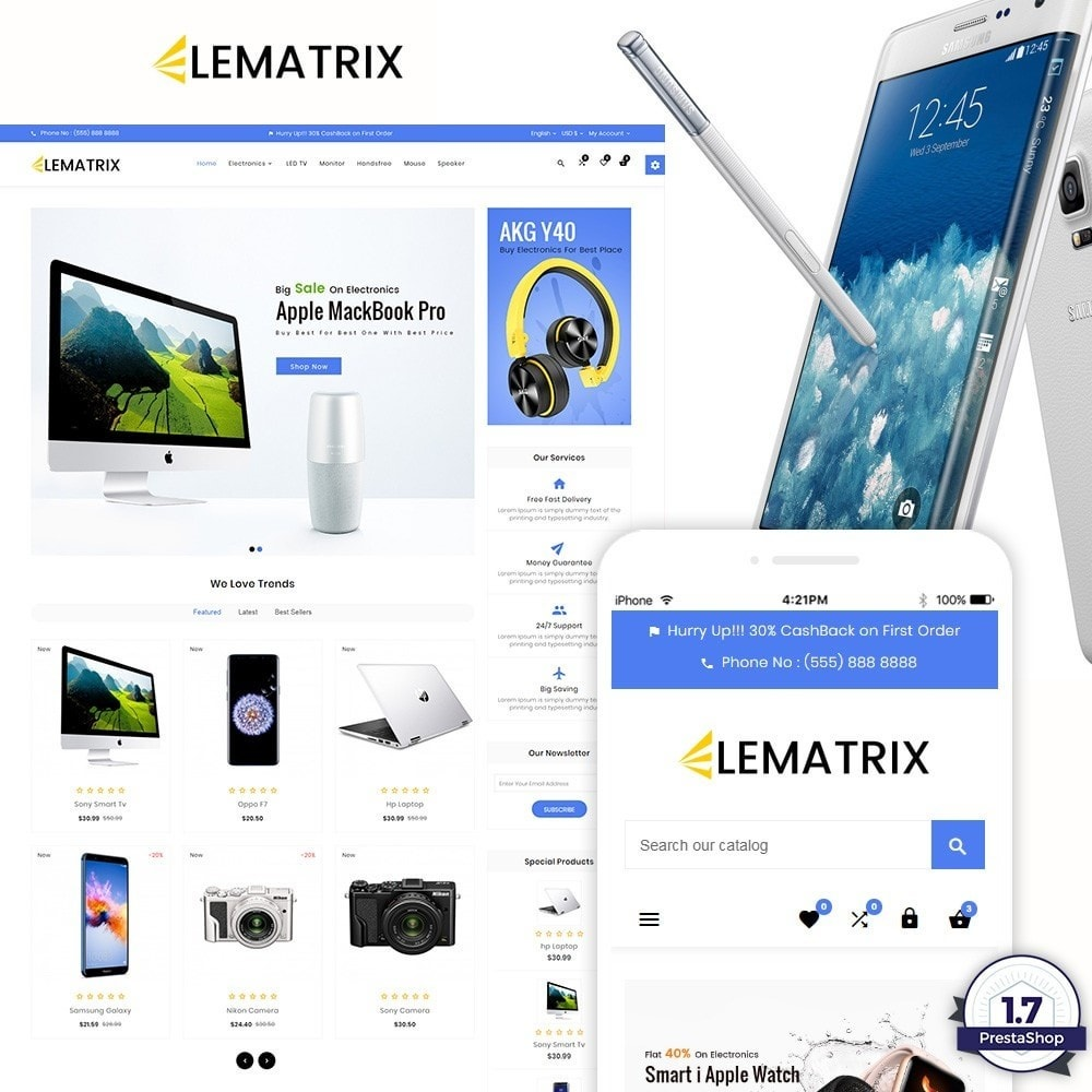 theme - Elektronik & High Tech - Ele Matrix – Electronic and Accessories Store - 1