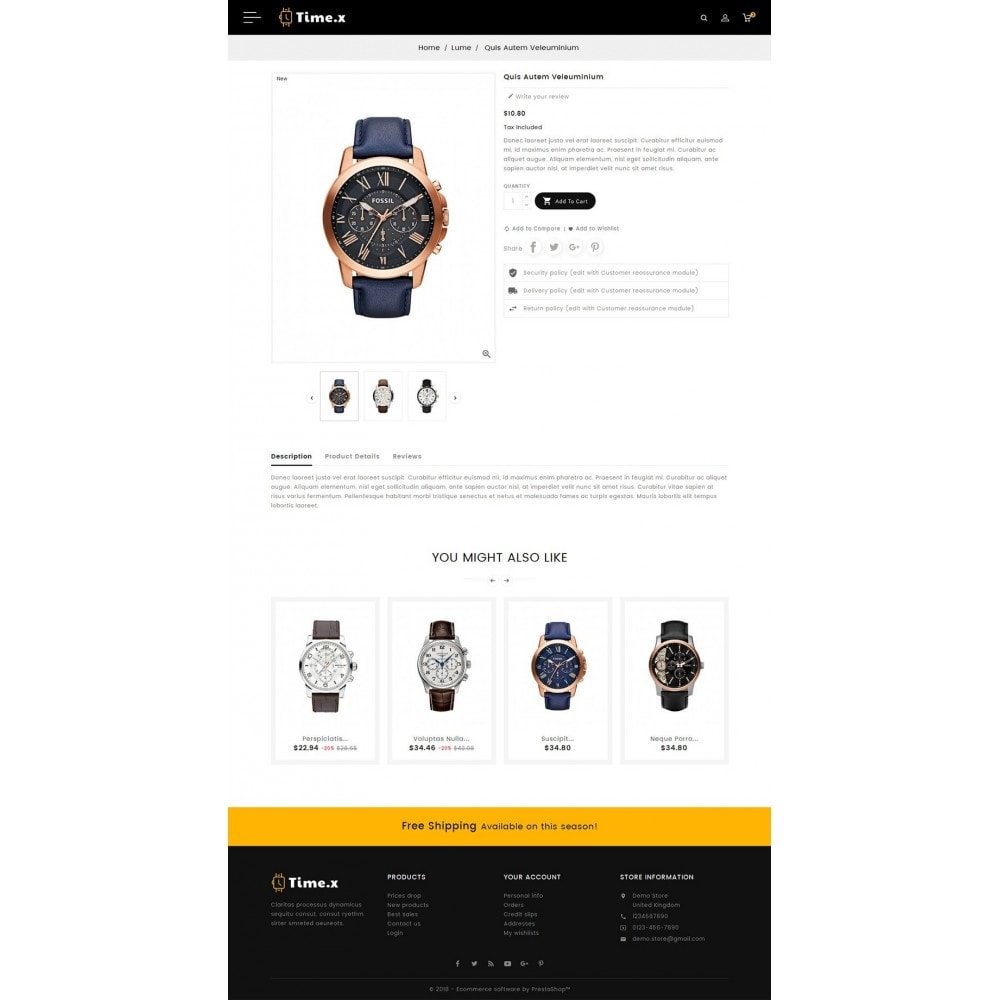 theme - Ювелирные изделия и Аксессуары - Timex Watch - 5