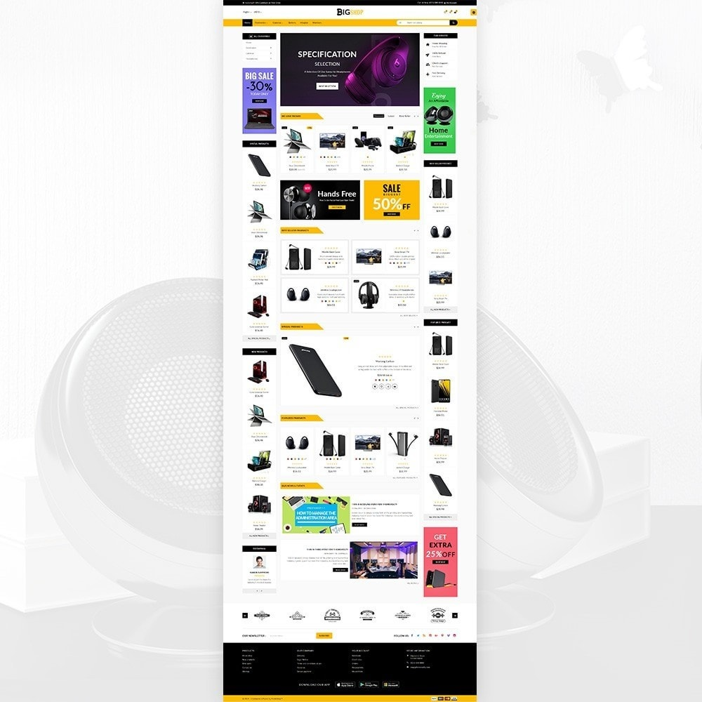 theme - Elektronika & High Tech - BigShop – Electronic Mega Super Store - 1