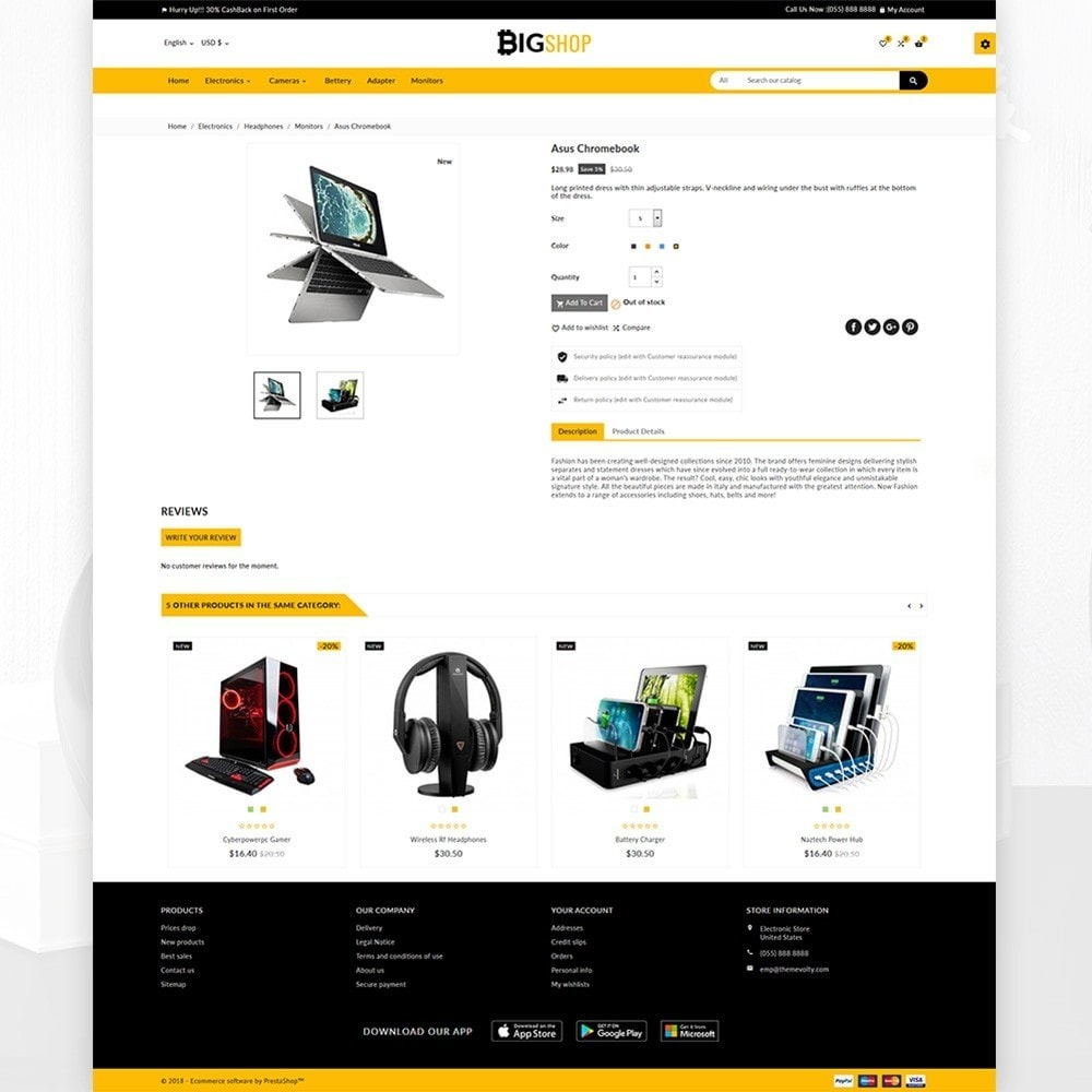 theme - Elektronika & High Tech - BigShop – Electronic Mega Super Store - 4