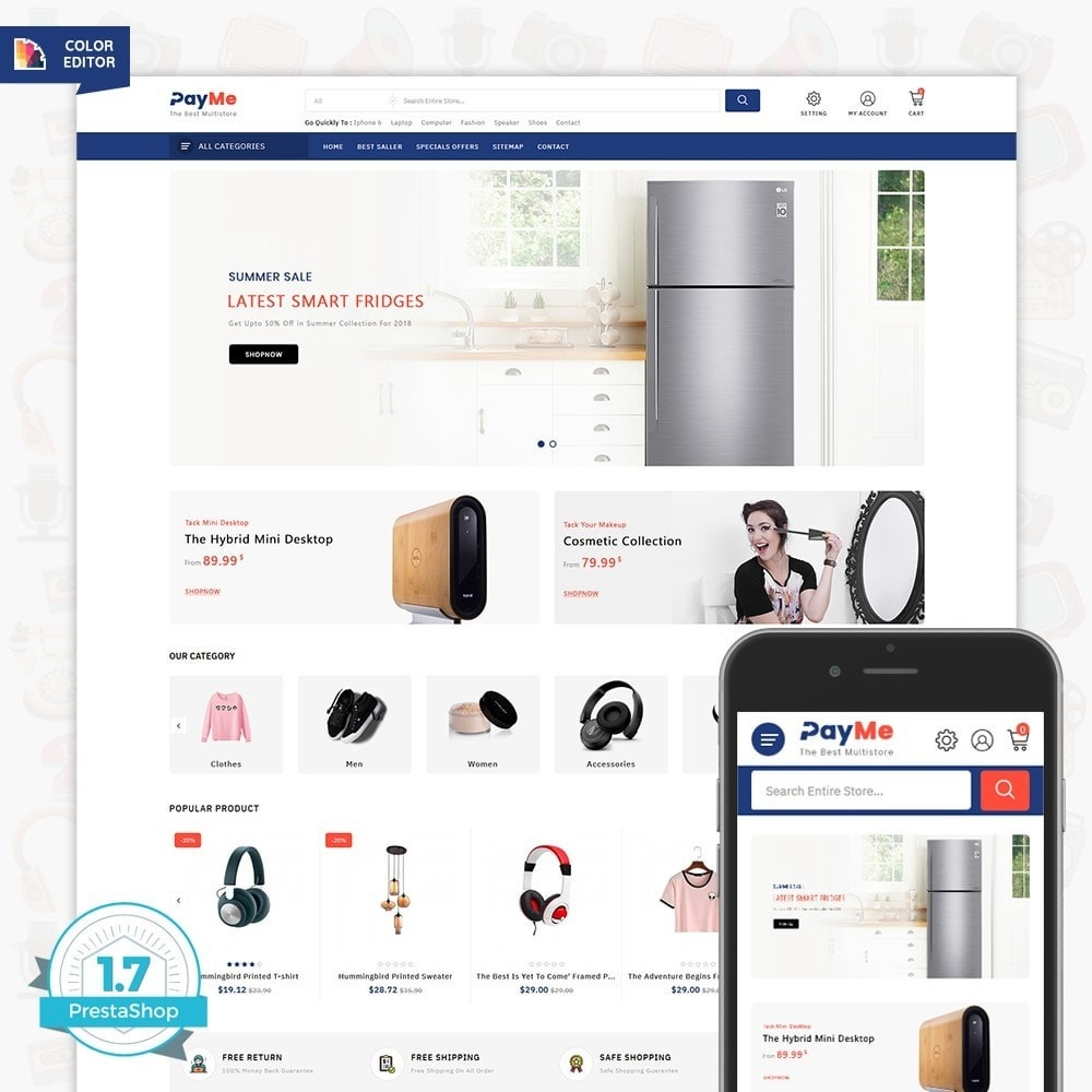 theme - Elettronica & High Tech - PayMe - The Best Shop - 1