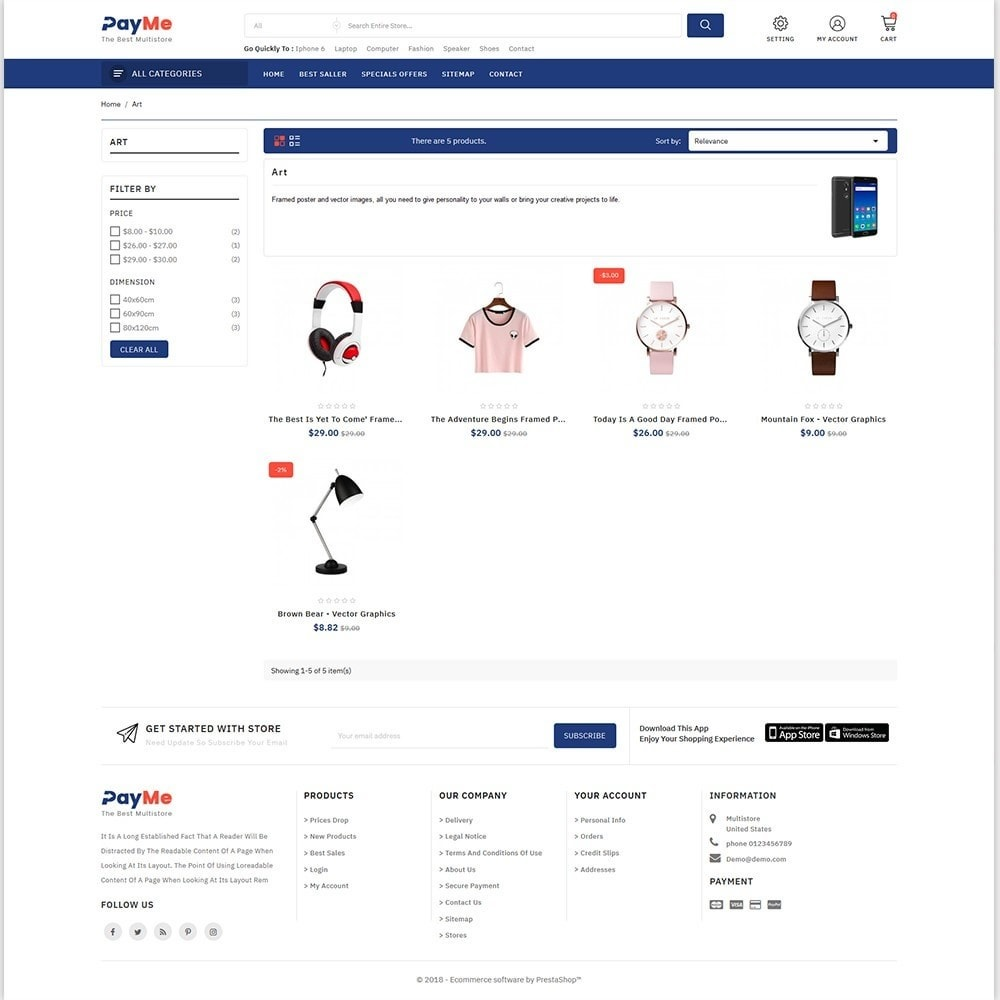 theme - Elettronica & High Tech - PayMe - The Best Shop - 3